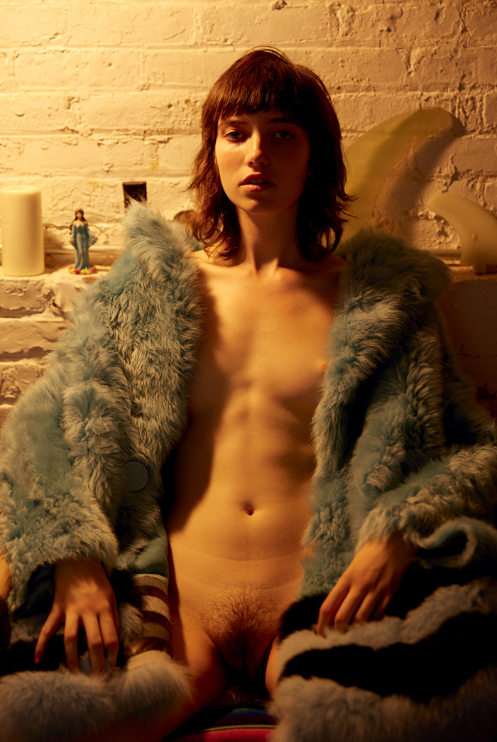Grace Hartzel nude by Roe Ethridge for Document Journal